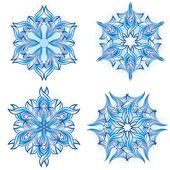 Set of snowflakes — Stockvector