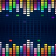 Colorful equalizer — Stock Vector