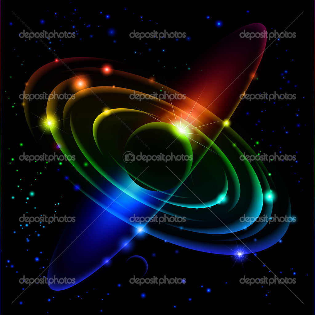 Abstract Solar system. Vector illustration on black #5 — Stock Vector #4304727