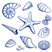 Sea Set — Stock Vector