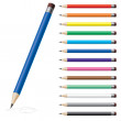 Stock Vector: Color pencils #2