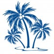 Stock Vector: Silhouette Palm trees