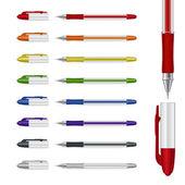 Ballpoint pens — Stock Vector