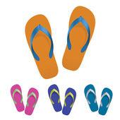Flip flop set — Stock Vector