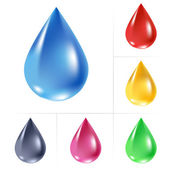 Set of water drops. — Stock Vector