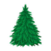 Cconiferous tree — Stock Vector