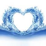 蓝色的水心 — 图库照片