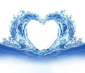 Blue water heart — Stock Photo