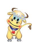 Calf Cartoon Character — Stock Vector