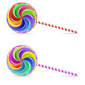 Spiral lollipop — Stock Vector