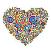 Disco hjärta — Stockfoto