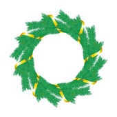 Christmas wreath. — Stockvector