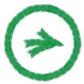 Christmas wreath of fir twigs — Stock Vector