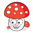 Acrylic illustration of Toadstool — Stock Vector
