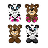 Teddy bears — Vector de stock