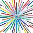 Stock Vector: Chaotic pencils