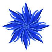 Abstract blue flower — Stockvektor