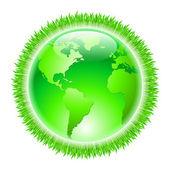 緑の地球 — ストックベクタ