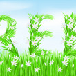 Eco-Style Grass Letters. — Stock Photo