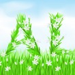 Постер, плакат: Eco Style Grass Letters