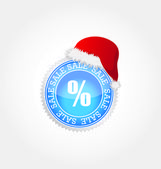 Vector sticker- christmas sale — Stock Vector