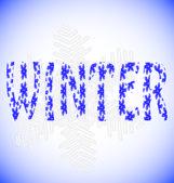 Word winter — Stock Vector
