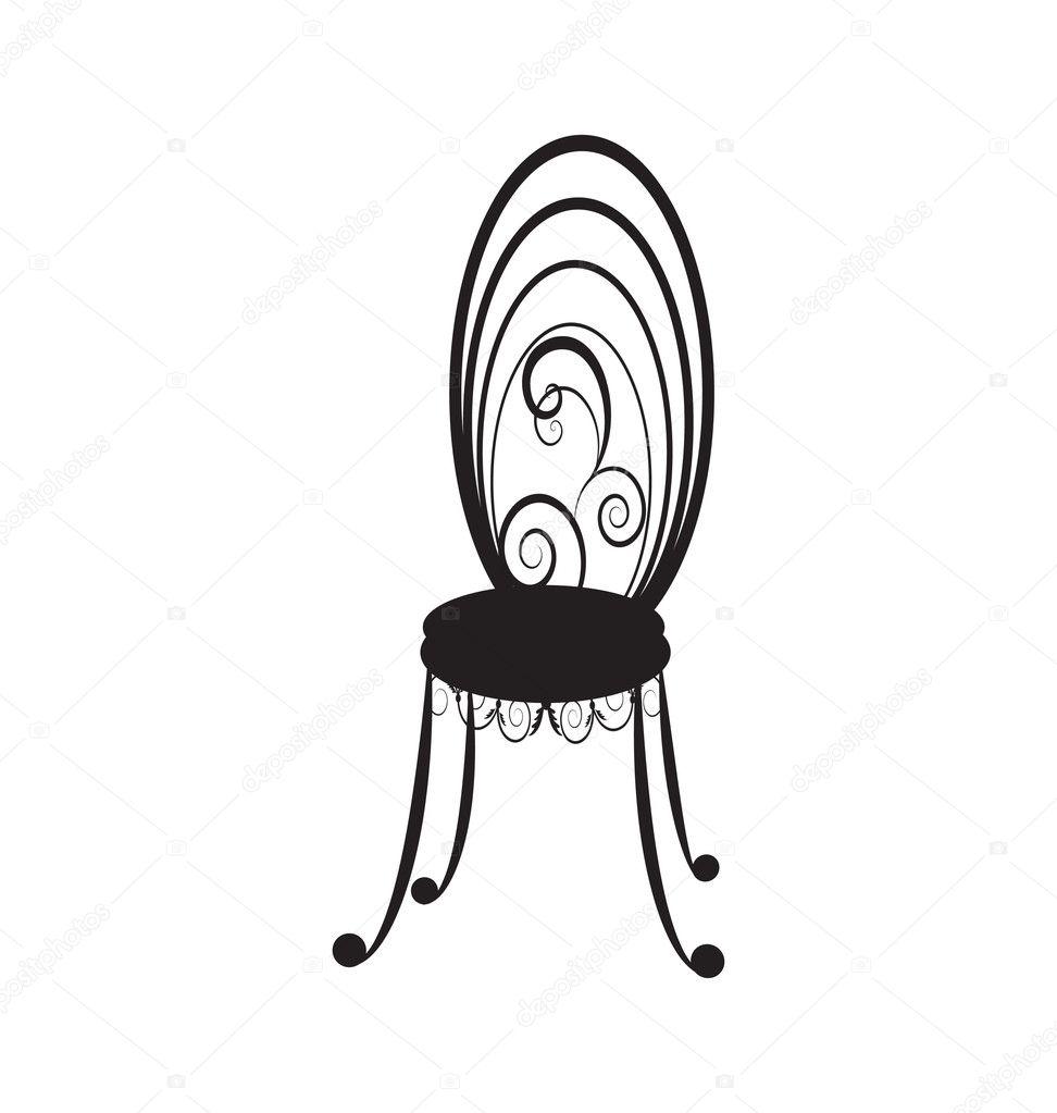Antique chair silhouette - Antique Chair Silhouette Antique Furniture Silhouettes Antique Chair Silhouette Retro Chairs Silhouette