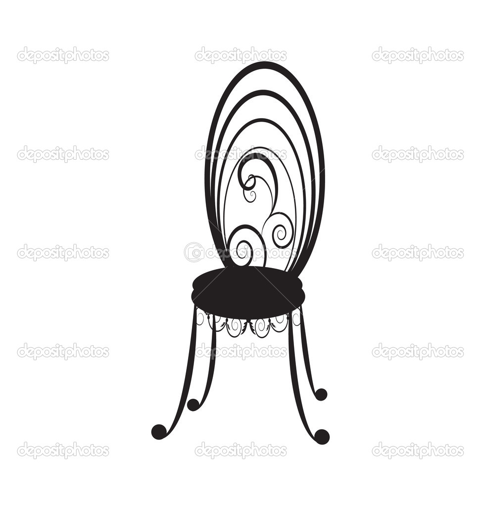 Antique chair silhouette - Retro Chairs Silhouette Stock Vector 3997860