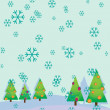 Background with christmas trees — Stock Vector