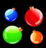 Color christmas balls — Vettoriale Stock