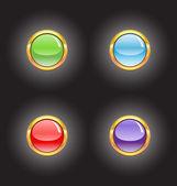 黄金按钮 — 图库矢量图片