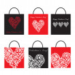 Set of Shoping Bags for valentine`s day — Stock Vector #4736076