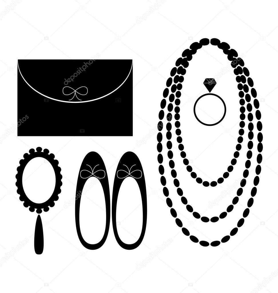 Set of  accesories  for women illustration design vector — Stock Vector #4815869