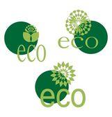 Ecological emblem — Stock Vector