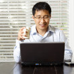 Working businessman — Stock Photo