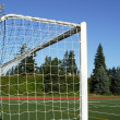 Stock Photo: Soccer goal posts