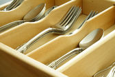 Spoons and forks — Stock Photo