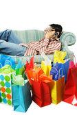 Fatigué après le shopping — Photo