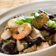 Seafood casserole - Stock Photo