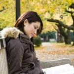 Studying girl — Stock Photo