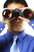Businessman with vision — Stock Photo