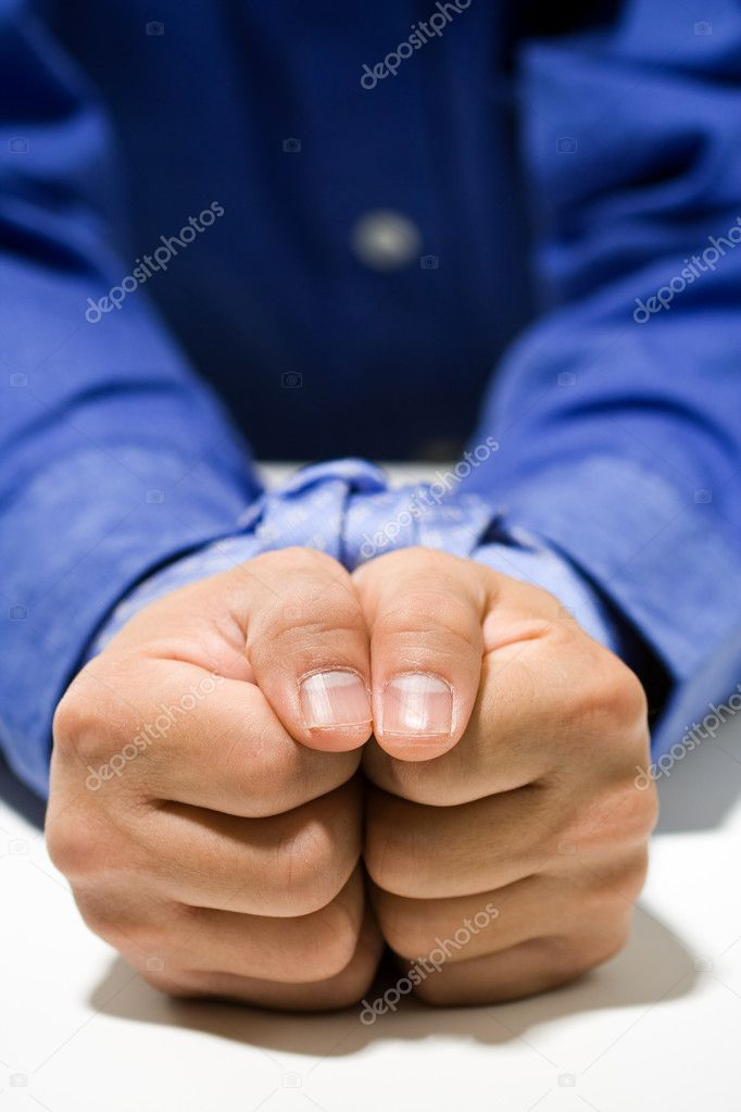 A conceptual shot of a businessman with his hands tied up  Stock Photo #4114054