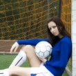 Royalty-Free Stock Photo: Soccer girl