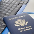 Stock Photo: Online travel reservation