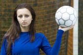 Ragazza calcio — Foto Stock