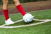 Fotbollspelare — Stockfoto