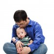 Asian father and son — Stock Photo