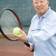 Royalty-Free Stock Photo: Senior tennis player