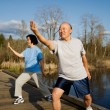 Stock Photo: Senior exercise