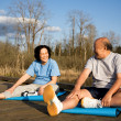 Senior couple exercise — Stock Photo #5092239